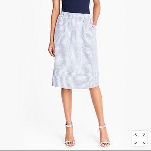 Mid length striped skirt